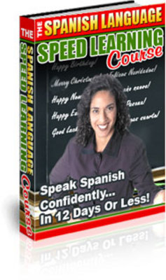Product picture *NEW!* The Spanish Language Speed Learning Course-With MRR