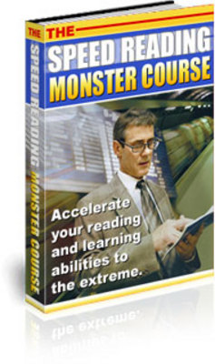 Product picture *NEW!* Speed Reading Monster Course -JUST 1 USD -With MRR
