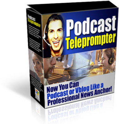 Product picture *NEW!* Podcast Teleprompter -JUST 1 USD-With MRR