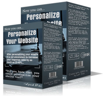 Product picture *NEW!* Personalize Your Website -JUST 1 USD -With MRR