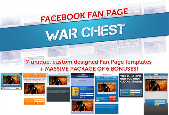Product picture *Best Seller* Facebook Fanpage Warchest with PLR - Just $5